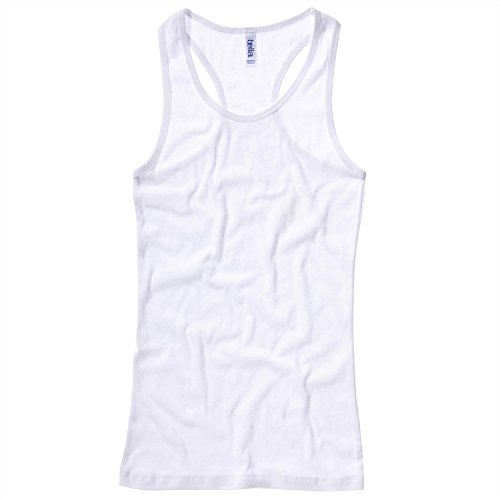 Bella Canvas Sheer rib racerback tank top - White - UK 8 / US 4 / EU 36