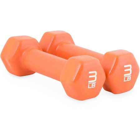 Tone Fitness Vinyl Dumbbells, 6 lb Pair