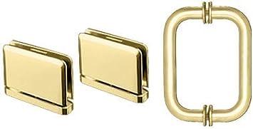 CRL Brass Geneva Shower Pull and Hinge Set