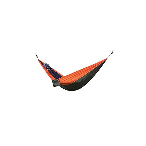 e Hammock Portable Parachute Cloth 2 Person Hamaca Rede Garden Hanging Chair Sleeping Travel Swing Hamac,Chocolate ()