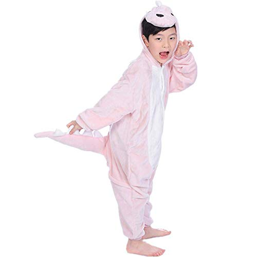 Women's Sleepwear Unisex Adult Kids Dinosaur Onesie Animal One Piece Pajamas Christmas Costume (Size130 for 49-53