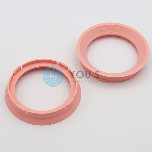 2 x YOU.S Genuine Centering Ring Distance Ring for Aluminum Rims Z16 70,0 -57, 1 mm Alutec Anzio Rial