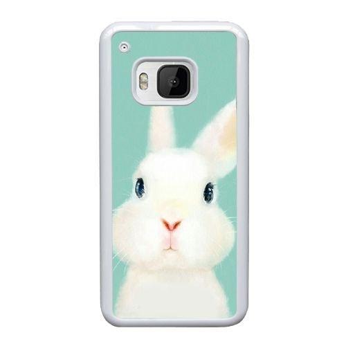 HTC One M9 Case,Cute Furry Rabbit Pattern