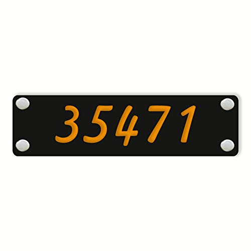 Modern Home Address Sign - Customized Acrylic Rectangular Horizontal Address Plaque - Unique Address Number Sign - Black Home Address Sign - Personalized Color and Size. (25 x 7 inch / 1) ()