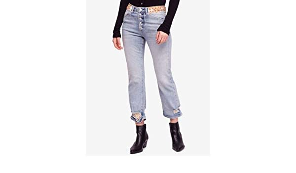 top-rated cheap modern style 2019 best Free People $168 Womens New 1013 Blue Embellished Ripped ...