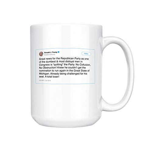 Great News For The Republican Party As One Of The Dumbest Trump Tweet Ceramic Coffee Mug Tea Cup (15oz, White)]()