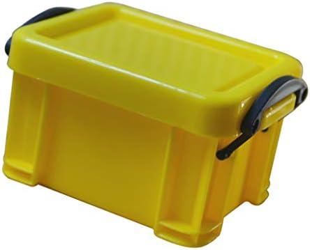 LOVIVER Mini Cajas De Bloqueo De Almacenamiento Accesorios para El Hogar Lindos Herramientas Organizadores Bandejas - Amarillo: Amazon.es: Hogar