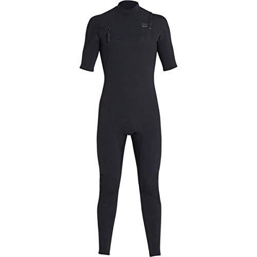Billabong 2/2 Furnace Carbon Chest Zip Men's Short-Sleeve Full Wetsuits - Black/Large