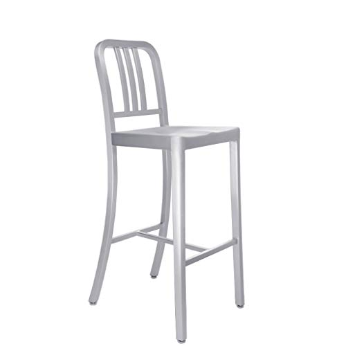 XINGING Todo-Aluminio Navy Bar Chair Back Bar Chair Cafe Combinacion de Mesa y Silla Taburete Alto Cafe Table and Chair Taburete de Bar (Color : 66cmsitting High)