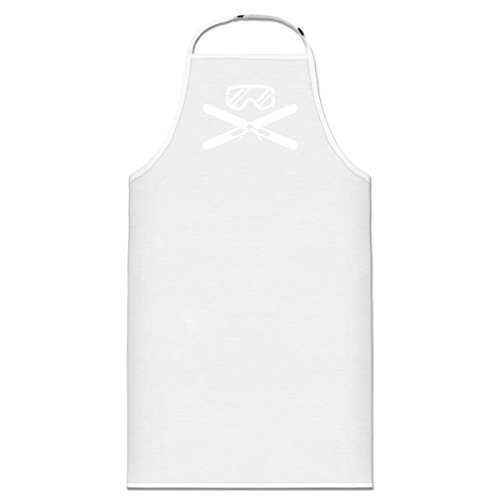 Shirtcity Ski Equipment Crossed Cooking Apron One Measure assess White