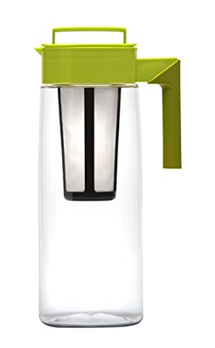 Takeya 64 Oz Iced Tea Maker with Silicone Handle Avocado Olive Green