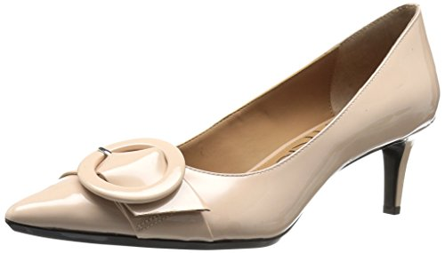 Calvin Klein Women's Pavie Pump, Sheer Satin, 8 Medium US (Calvin Satin Dress Klein)