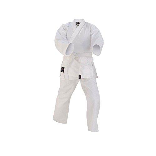 Prime Fitness Kids Karate Uniforms Suit 7-oz White Colour Cotton Martial Arts Size 000 to 3 (White, 00/120)