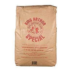 King Arthur Unbleached Bread White Flour, 50 Pound by King Arthur Flour (Image #1)