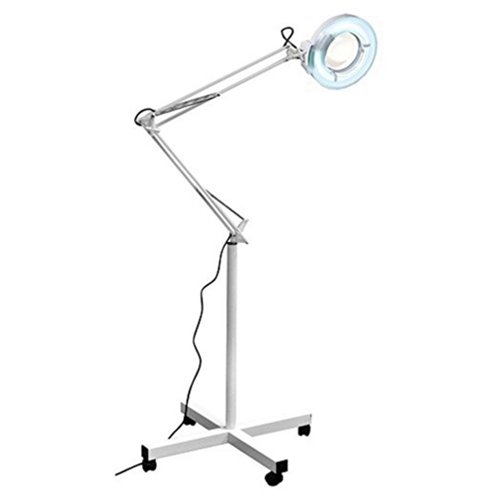 Beauty Style Spa Equipment Facial Magnifying Lamp 5 Diopter with Rolling Floor Stand - Adjustable Mag Light