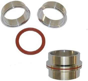 "3/"" Clamp Aluminum Flanges V-Band Vband Turbo Intercooler Piping Kit w//O-ring"