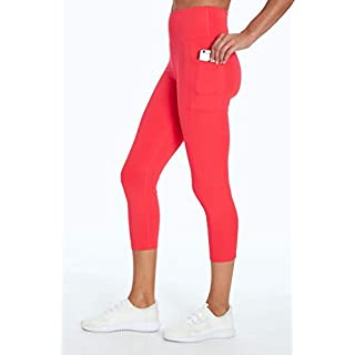 Bally Total Fitness High Rise Pocket Mid-Calf Legging, Sassy Coral, X-Large
