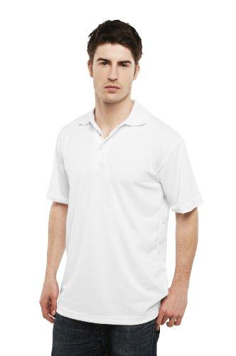 Uneek uc121poliestere piquet maglia tessuto unisex, Polo, Colore: Bianco, Taglia: XXL