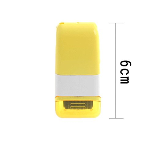 On Sale YRD TECH 1Pcs Guard Your ID Roller Stamp SelfInking Messy Code Security Office