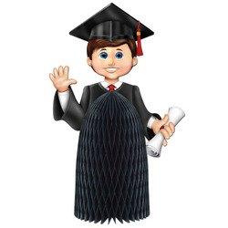 Boy Graduate Centerpiece Party Accessory (1 count) (1/Pkg) -