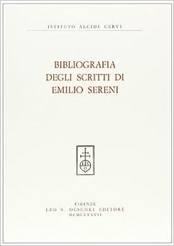 Book Bibliografia degli scritti di Emilio Sereni