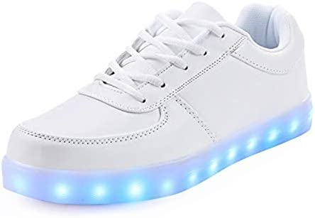Rojeam Led Shoes Light Up Trainers for Boys Girls 7 Colors Light Up Trainers Luminous Sneakers USB Charge / UK