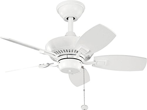 (Kichler 300103WH 30-Inch Canfield Fan, White)