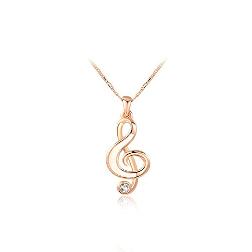 O4U Musical Note Unique Crystal Melody Gold Plated