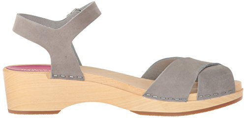 Nubuck Debutant hasbeens Women's 39 Mirja Regular Grey 9 EU Grey US Nubuck swedish Sandal Heeled 39 w0WRwxn