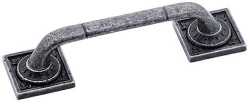 Amerock BP4482-WID Ambrosia Euro Stone SQ 3-3/4-Inch Pull, Wrought Iron (Ambrosia Cabinet Pull)
