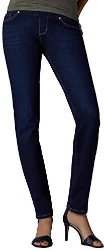 LEE Women's Petite Slimming Fit Rebound Straight Leg Pull On Jean, Infinity, 4 -  ADULT