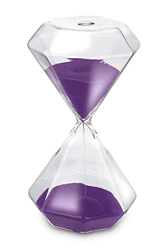 GracesDawn Diamond glass hourglass Purple sand 30 minutes with ()
