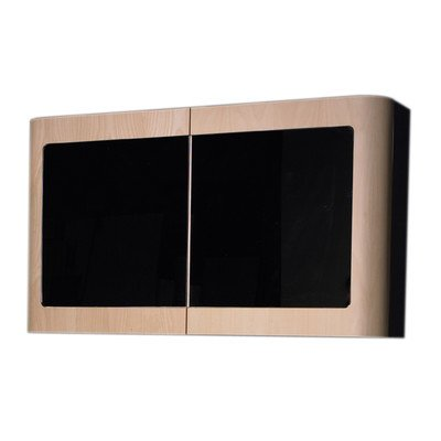 Whitehaus WHAEMEB02 Double Cabinet with Mirror Doors and 2 Shelves, Ebony ()