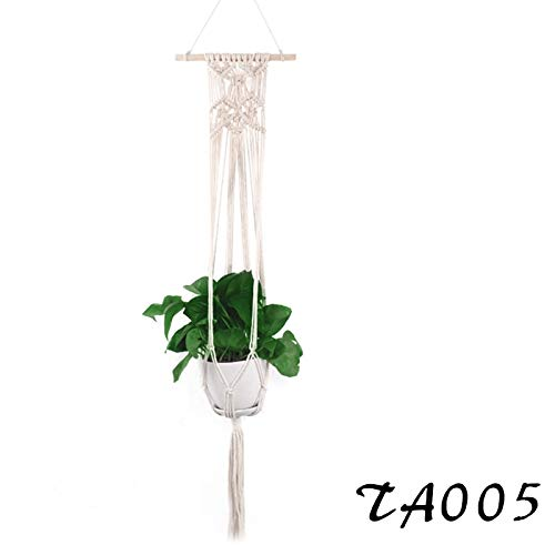 Best Quality - Hanging Baskets - Plant Hanger Indoor Wall Hanging Planter Basket Macrame Jute Rope Boho Hipinpie Home Decor Hand Made Hand-Woven Flower Pot - by Viet Hand - 1 Pcs
