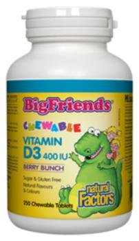 NATURAL FACTORS D3 Childrens 400Iu Chewable, 250 CT