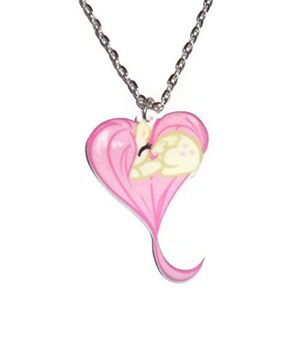 Amazon fluttershy necklace my little pony heart shape sleeping fluttershy necklace my little pony heart shape sleeping pony friendship is magic cute kawaii aloadofball Gallery