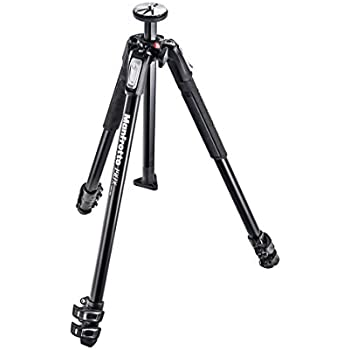 Manfrotto MT190X3 190X 3 Section Aluminum Tripod (Black)