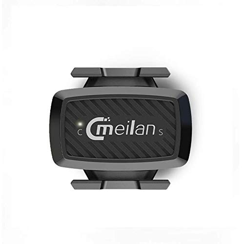 Meilan C1 Speed & Cadence Sensor – No Magnets Required – Connects to Bike Computers, Speedometers, Smart Trainers and Apps That use Bluetooth 4.0 BLE & ANT+ Techonolgy, Black