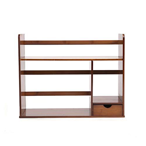 Bookshelf Bookcase Desktop Shrink Mobile Countertop Table Stretch Student Creative Simple Bookcase Shelf HUYP (Size : 68CM) ()