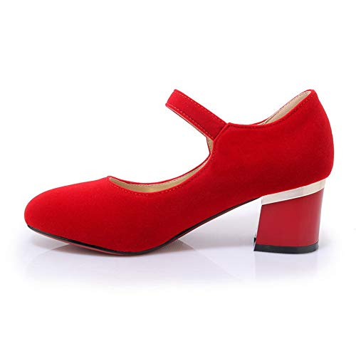 EU SDC05738 Rouge Sandales Compensées 5 Femme 36 Red AdeeSu Avq8dq
