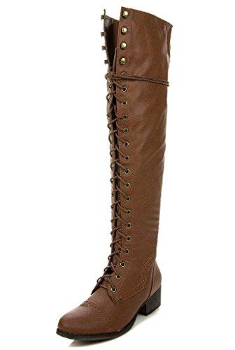 Breckelle's ALABAMA-12 Women's Knee High Riding Boots (Women Boots Breckelles Combat)