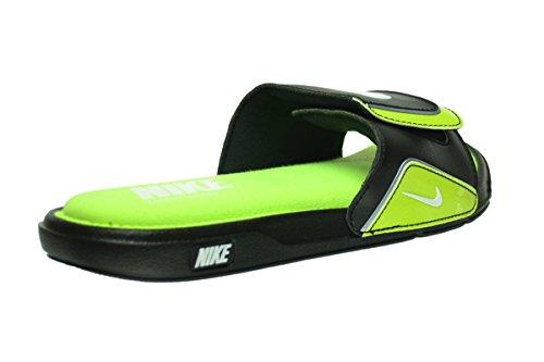 c21041fae6e768 NIKE Comfort Slide 2 Men s Slides Black White-Volt-Metallic - Import It ...