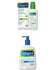 Cetaphil Gentle Skin Cleanser and Daily Facial Moisturizer Bundle | Hydrating Body and Face Wash for Sensitive Skin and Lightweight Moisturizer for Face with SPF 15| For Sensitive Skin