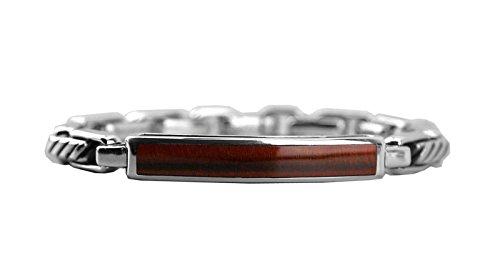 David YURMAN Solid ST. Silver RED Tiger Eye 4mm Modern Cable ID Bracelet 23B (David Yurman Id Bracelet)