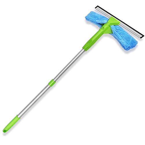Window Squeegee 3-in-1 Professional Cleaner Window Scrubber and Extension Pole ITTAHO by ITTAHO