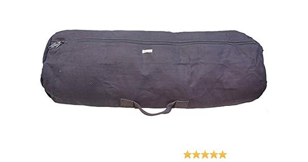 c03dd2238a Amazon.com   HUMVEE HMV-GB-04BLK Medium Size Cotton Canvas Duffle Bag with  Top and Side Handles
