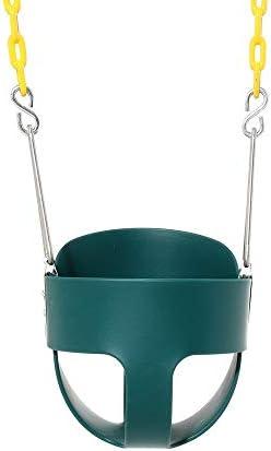 ブランコ 安全機能付きハイバックベビースイングシートフレーム子供のスイングシート ジャングルジム・ブランコ (色 : 緑, Size : 32x26x29cm)