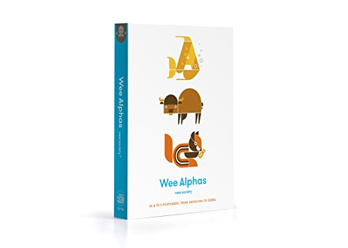 Wee Alphas: 26 A to Z Postcards, from Angelfish to Zebra (Wee Society)