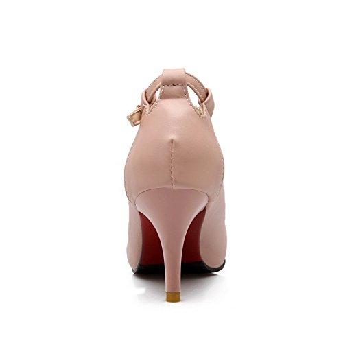Indicata Fibbia scarpe Weipoot Chiuso Rosa tacchi Pompe Solido Morbido Punta Donne Materiale HRF0gwxq