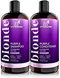 ArtNaturals Purple Shampoo and Conditioner Set - (2 x 16 Fl Oz / 473ml) - Protects, Balances and Tones - Bleached, Color Treated, Silver, Brassy and Blonde Hair - Sulfate Free